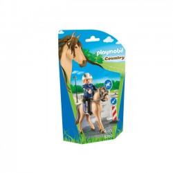 Playmobil Country klocki Policjant z brygady konnej