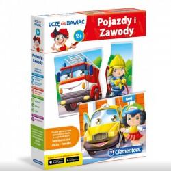 Clementoni gra edukacyjna puzzle Pojazdy i zawody