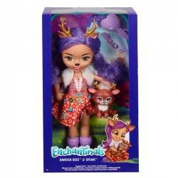 Mattel Lalka Enchantimals Duża + zwierzątko Jelonek