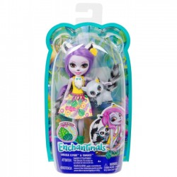 Mattel Lalka Enchantimals Larisa Lemur