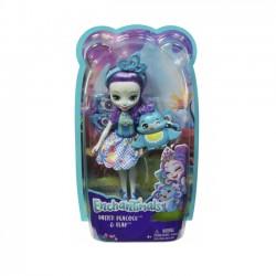 Mattel Lalka Enchantimals + Zwierzątko, Patter Peacock