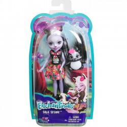 Mattel Lalka Enchantimals + Zwierzątko, Sage Skunk