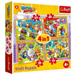 Puzzle 4w1 Super Zings Bohaterowie