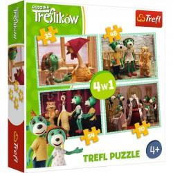 Trefl Puzzle 4w1 Nowi przyjaciele Rodzina Treflików