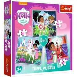 Puzzle 3w1 Rycerka Nella i jej świat