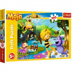 Trefl Puzzle 100 elementów - Pszczółka Maja i przyjaciele