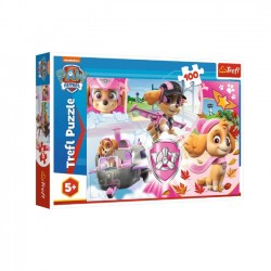 Trefl Puzzle 100 elementów - Psi Patrol, Skye w akcji