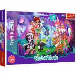 Trefl 100 elementów Zabawa z przyjaciółmi Enchantimals