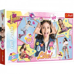 Trefl Puzzle 100 Luna kolaż