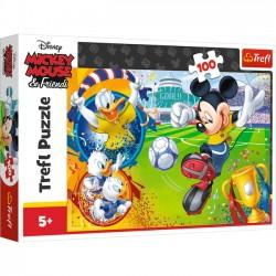Trefl Puzzle 100 elementów - Myszka Miki na boisku