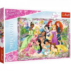 Trefl Puzzle 260 elementów - Księżniczki Disneya, Spotkanie Księżniczek