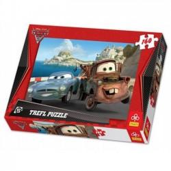 Trefl 160 elementów, Cars 2, Złomek i Finn
