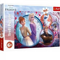 Trefl Puzzle 160 elementów. Frozen 2 (Kraina Lodu) - Siostrzana przygoda