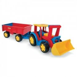 Gigant traktor z łyżką i przyczepą