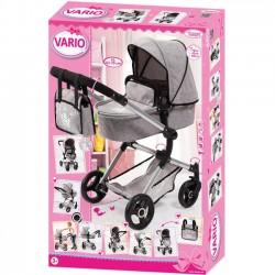 Wózek dla lalki Combi Pram Vario, szary