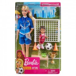 Mattel Lalka Barbie Trenerka piłki nożnej zestaw