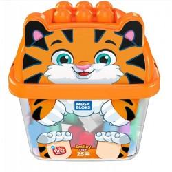 Mega Bloks Pojemnik z klockami Tygrys