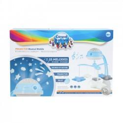Canpol Babies Karuzela elektryczna z projektorem i pozytywką niebieska