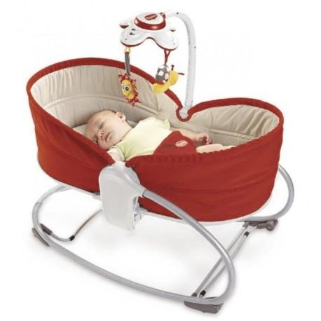 Leżaczek-bujaczek-łóżeczko Tiny Love Wielofunkcyjny 3w1 Czerwony