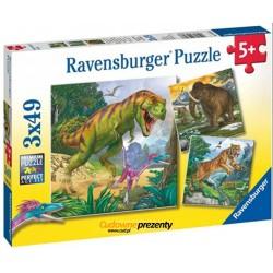 Puzzle 3x49 elementów Władca czasów prehistorycznych