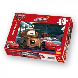 Puzzle 30el. Cars Na stacji benzynowej Trefl