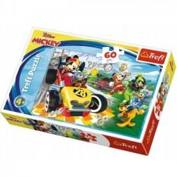 TREFL Puzzle 60 el. Rajd z przyjaciółmi, Myszka Mickey