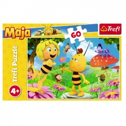 Puzzle 60 el. Pszczółka Maja: Kwiatek Mai