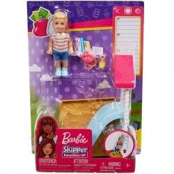 Barbie Skipper Akcesoria spacerowe Zjeżdzalnia z lalką