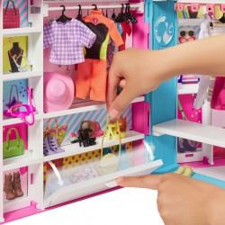 Szafa na ubranka z lalką Barbie