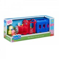 TM Toys Świnka Peppa - Pociąg z wagonikiem i 2 figurki