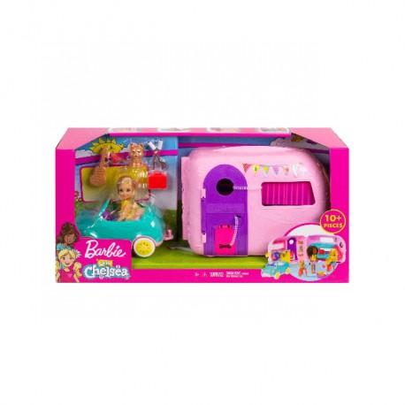 Barbie Chelsea z przyczepą kempingową