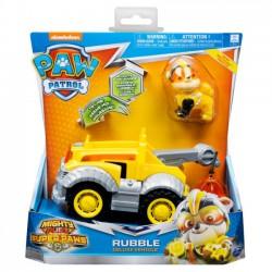 Psi Patrol - Rubble + pojazd ze światłem i dźwiękiem