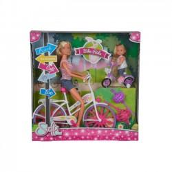 Lalka Steffi Przejażdżka na rowerze