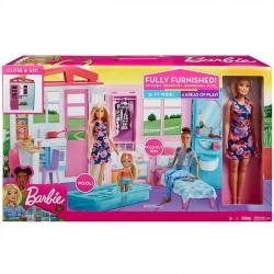 Barbie Przytulny Domek +Lalka FXG55